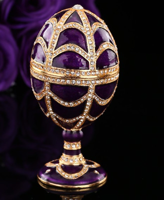 Beautiful purple Faberge egg style vintage home decor