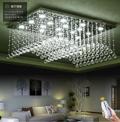 Luxurious Two-tone Dimming LED K9 Crystal Chandelier Ceiling Light Fixtures#2169