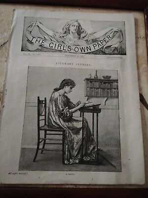 Antique collectors item of The Girls Own Paper from November 30th 1889