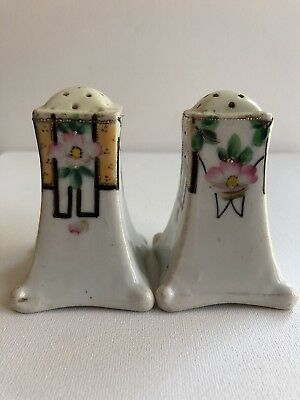 Antique EARLY Pre-Nippon Era Scenic Salt & Pepper Shakers 064