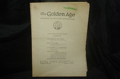 Golden Age Magazine October 17, 1928 - Jehovah's Witnesses - Watchtower