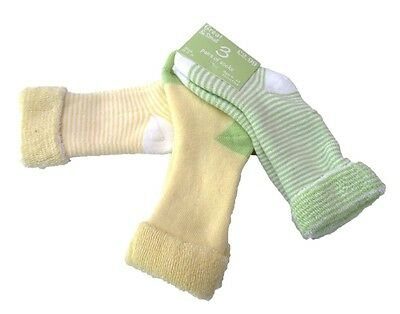 New Pack of 3 baby socks - size 0-2.5