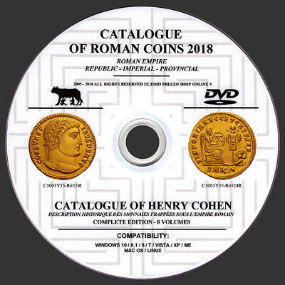 Catalog Of Roman Coins 2018 On Dvd - For Identifying And Values Roman Coins- New