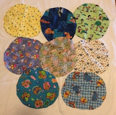 Lot of 8 Surgical Scrub Hat Cap /Bouffant Women Ladies Medical OR