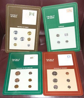 Coin Sets of All Nations Surinam Sweden Turkey Seychelles