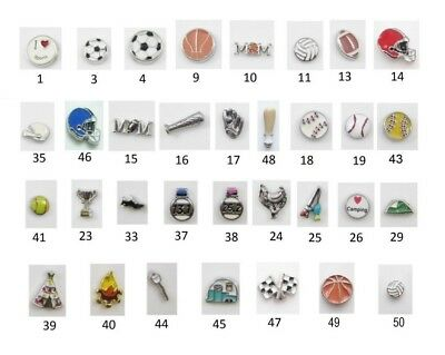 Floating Charm SPORTS RECREATION for Glass Memory Lockets