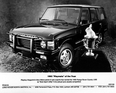 1993 Range Rover LWB Playmate of the Year US Factory Photo cb0276