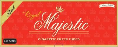 1x Box Royal Majestic Full Flavor KING SIZE Red ( 200 Tubes ) Cigarette Tube