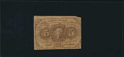 AC Fr 1230 $0.05 fractional First Issue straight edges monogram