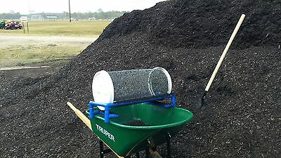 GARDEN ROLLING SIFTER: Compost and Garden Soil,with add-on 1/4 inch screen