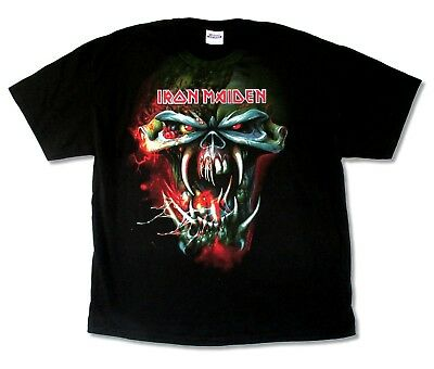 Iron Maiden Shirt The Final Frontier Face Tour 2010 Licensed