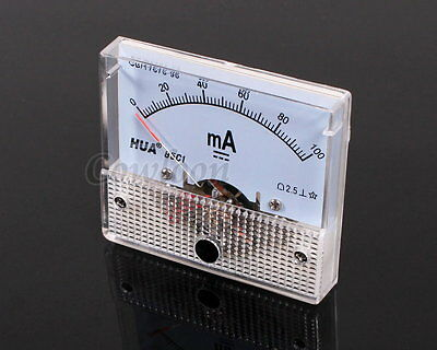 DC 100mA Ampmeter Ammeter Gauge Analog AMP Current Panel Meter 85C1