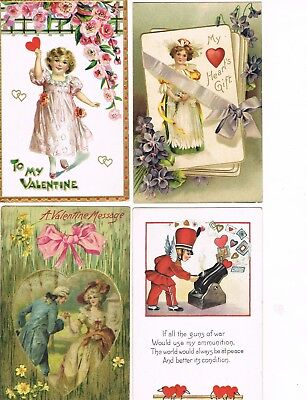 Lot of 28 ANTIQUE EARLY 1900s HOLIDAY Postcards   * VALENTINE'S DAY *