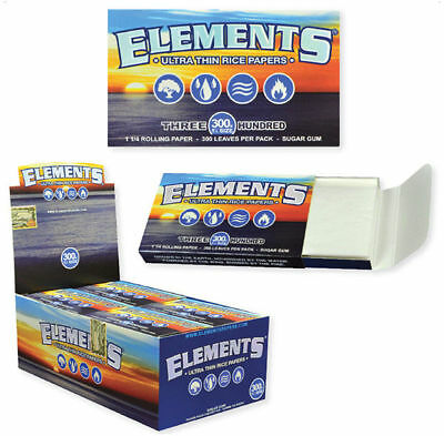 20x Packs Element 300  ( 300 Leaves / Papers Each Pack )  Rolling 1.25 FULL BOX