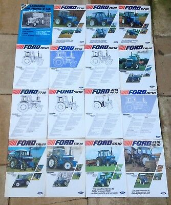 16) Ford Tractor Brochures