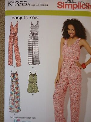 NEW SIMPLICITY MAXI Dress Jumpsuit & Playsuit Sewing Dressmaking ...