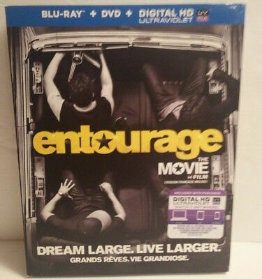 Entourage The Movie (Blu-ray/DVD, 2015, 2-Disc Set, Canadian) Slipcover