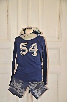 * SCOTCH & SODA SHRUNK * Coole Shorts, Blumen, Hawaii, blau Gr. 8 Y, 128/134 TOP