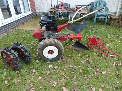 Robi Rekord 250T Two Wheeled Tractor, Plough, Harrow Cultivator