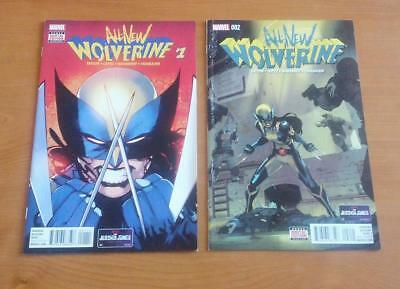 All-New Wolverine #1 #2 1st Appearances of Gaby & Laura as Wolverine 2016 Marvel