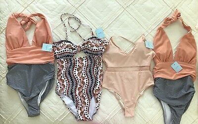 Lot of 4 Cupshe One Piece Swimsuits