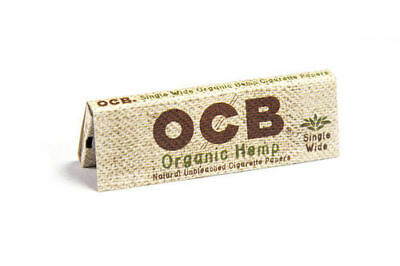 5x Packs OCB Organic 1.0 ( 50 Leaves / Papers Each Pack ) Single Wide Rolling