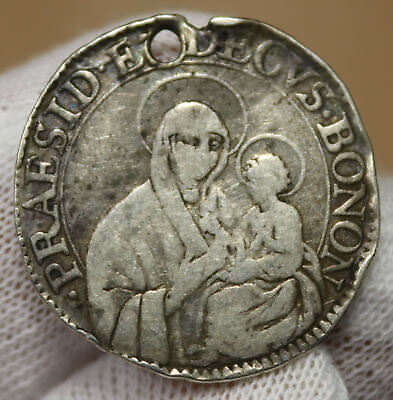 1781-86 10 Bolognini Silver Vatican Papal States Coin! 15