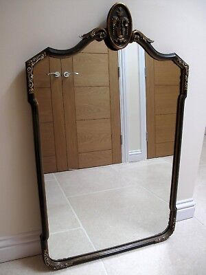 Antique late 19th C elegant French mirror good condition with ornate detailing.
