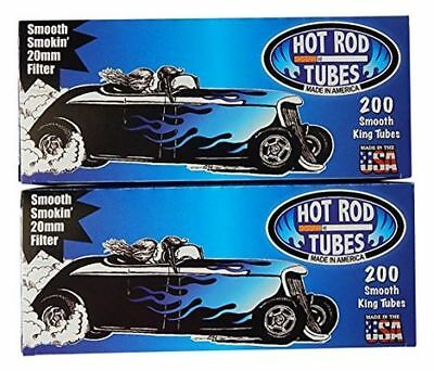 1x Box Hot Rod Smooth Light KING SIZE  ( 200 Tubes )  Cigarette Tube Tobacco