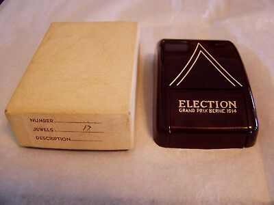 Vintage Election Wristwatch 17J Grand Prix Berne 1914 Case And Box Only
