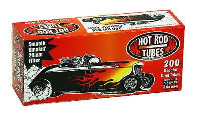 1x Box Hot Rod Full Flavor KING SIZE  ( 200 Tubes )  Cigarette Tube Tobacco