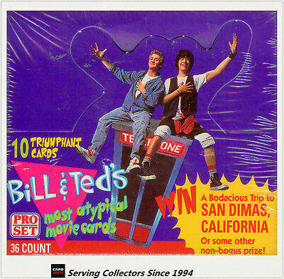 1991 Bill & Ted's Most Atypical Movie Cards factory box (36 packs) (Proset)