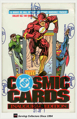 1991 DC Cosmic Comics Trading Card Factory Box (36) (By Impel)-Popular