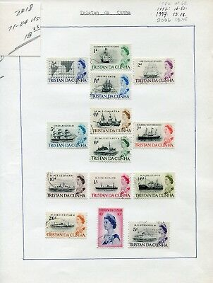 Weeda Tristan da Cunha  #71-84 VF used 1965 QEII Definitive Issue CV $18.35