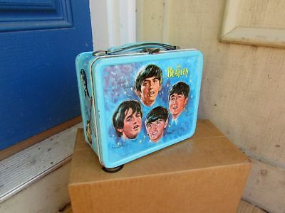 Vintage 1965 Beatles Blue Lunchbox Very NICE CONDITION