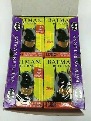 1992 Topps Batman Returns Movie Card Factory Wax Box (36 packs)