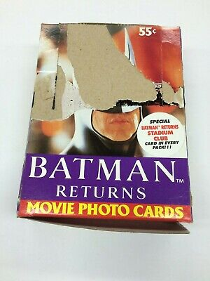 1992 Topps Batman Returns Movie Card Factory Wax Box (36 packs) x 2