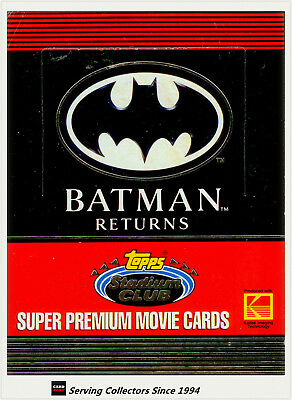 1992 Topps Stadium Club Batman Returns Movie Super Premium Card Box (36 packs)