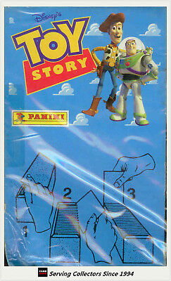 1996 Panini Toy Story Series 1 collector Stickers Box (100 packs)-non-stickable