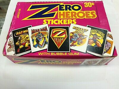 Donruss Zero Heroes Bubble Gum Stickers Box (36 Packs) x 2 Boxes- Rare