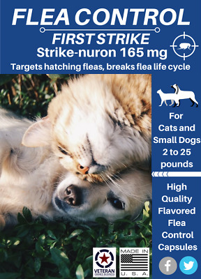 Flea Control for Cats and Small dogs, 24 Fast acting quality capsules