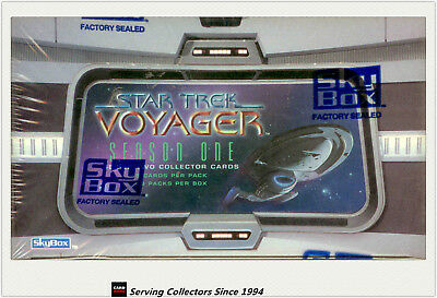 Star Trek Voyager Season 1 Series 2 Trading Card Factory Box (36 pks) x2-rare