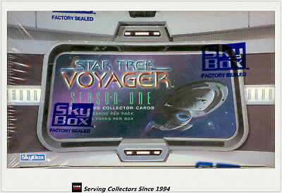 Star Trek Voyager Season 1 Series 2 Trading Card Factory Box (36 pks)-rare