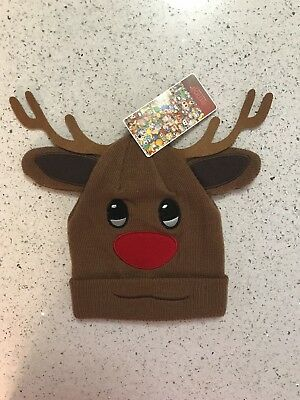 Rudolph The Red nosed Reindeer Holiday Hat NWT $22 see pics