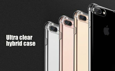 For Iphone 7 Plus / 7 / 6S / 6 Plus / 5 Case Clear Bumper Rubber Protective TPU