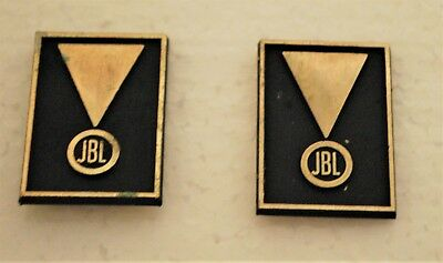 Jbl Original Metal Logos-Pair-For C Series & Other Vintage Speakers-Scarce