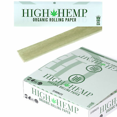25x Packs High King Size Slim ( 33 Leaves / Papers Each Pack ) Rolling FULL BOX