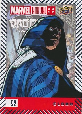 #52 CLOAK (2018) 2017 Upper Deck Marvel Annual DAGGER