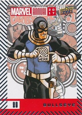 #80 BULLSEYE (2018) 2017 Upper Deck Marvel Annual DAREDEVIL