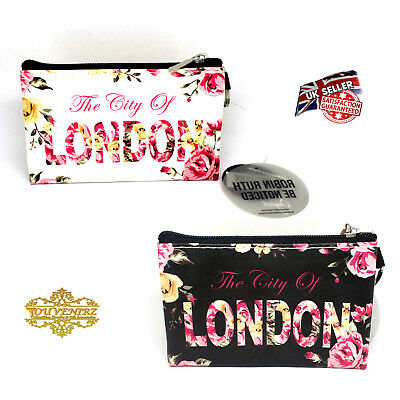 Robin Ruth City of London Purse Keyring Fashion Ladies Souvenir Floral Pouch Bag